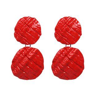 Alloy Fashion Geometric earring  (red) NHJJ5231-red's discount tags