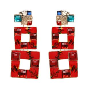 Alloy Fashion Geometric earring  (red) NHJJ5232-red's discount tags