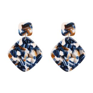 Plastic Fashion Geometric earring  (blue) NHJJ5233-blue's discount tags
