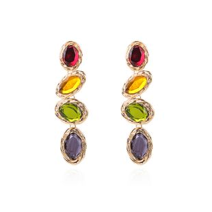 Alloy Fashion Geometric earring  (color) NHMD4760-color's discount tags