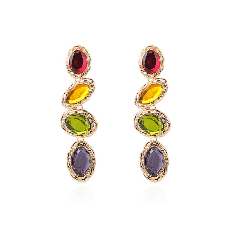 Alloy Fashion Geometric earring  (color) NHMD4760-color