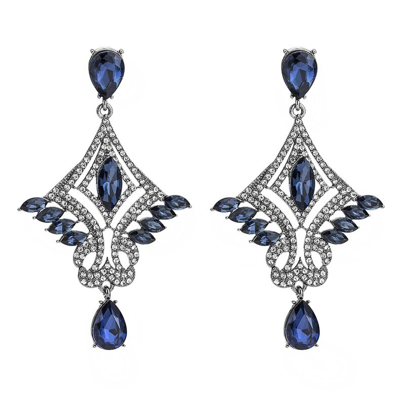 Alloy Fashion Animal earring  (blue) NHYT1249-blue