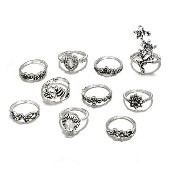 Alloy Fashion Flowers Ring  (Alloy) NHGY2577-Alloy