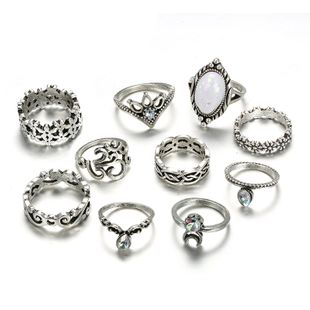 Alloy Vintage Flowers Ring  (Alloy) NHGY2580-Alloy's discount tags