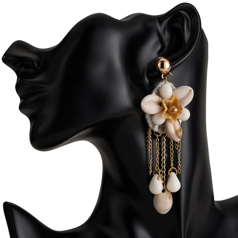 Alloy Fashion Flowers earring  (white) NHJE1997-white