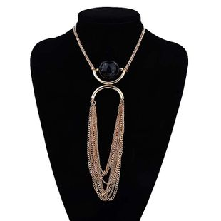 Alloy Fashion Tassel necklace  (black) NHJE2015-black's discount tags