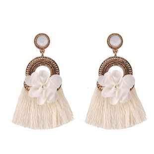 Alloy Fashion Flowers earring  (white) NHJQ10818-white's discount tags