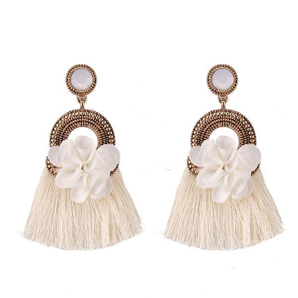 Alloy Fashion Flowers earring  (white) NHJQ10818-white
