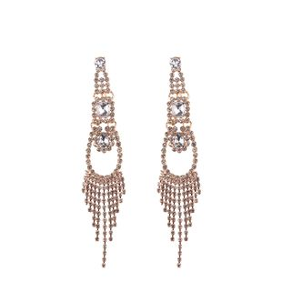 Imitated crystal&CZ Bohemia Geometric earring  (white) NHJQ10819-white's discount tags
