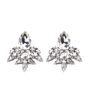 Imitated crystal&CZ Fashion Geometric earring  (white) NHJQ10830-white's discount tags