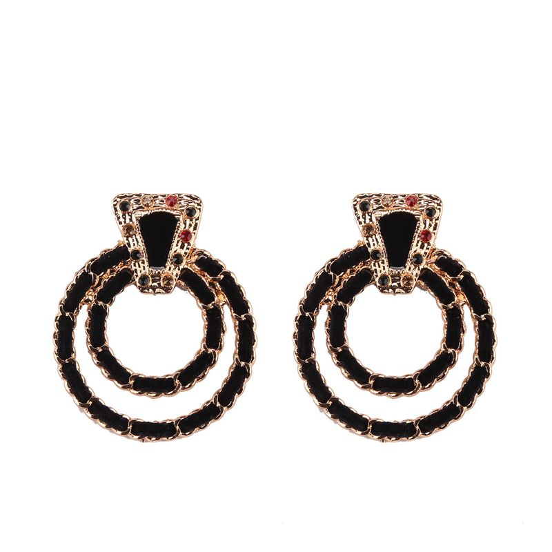 Alloy Fashion Geometric earring  black NHJQ10832black