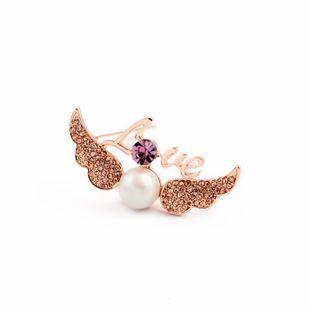 Alloy Fashion Geometric brooch  (purple) NHQD5696-purple's discount tags