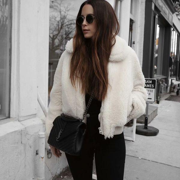 Polyester Fashion  coat  (White-S) NHAM6199-White-S