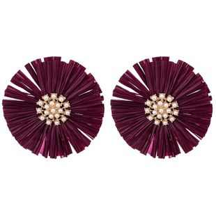 Alloy Fashion Flowers earring  (red) NHKC1162-red's discount tags