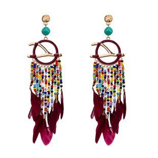 Alloy Fashion Tassel earring  (red) NHKC1164-red's discount tags