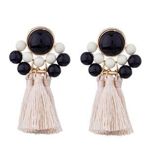 Alloy Fashion Tassel earring  (white) NHKC1167-white's discount tags