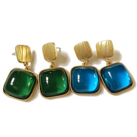 Alloy Simple Flowers earring  (Green earrings) NHOM1013-Green-earrings's discount tags