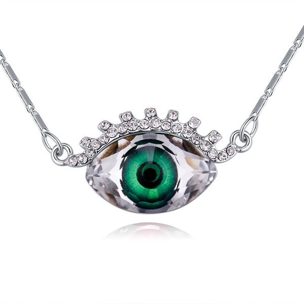 Austrian Imitated crystal Necklace - Hyun (Green) NHKSE29343