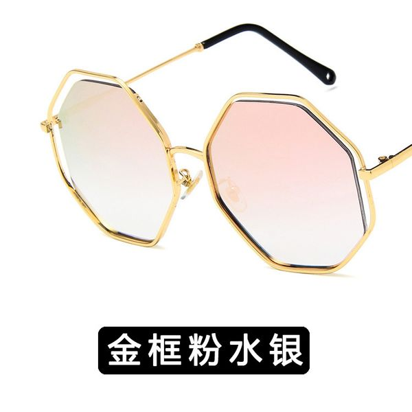 Alloy Vintage  glasses  (Alloy frame powder mercury) NHKD0462-Alloy-frame-powder-mercury