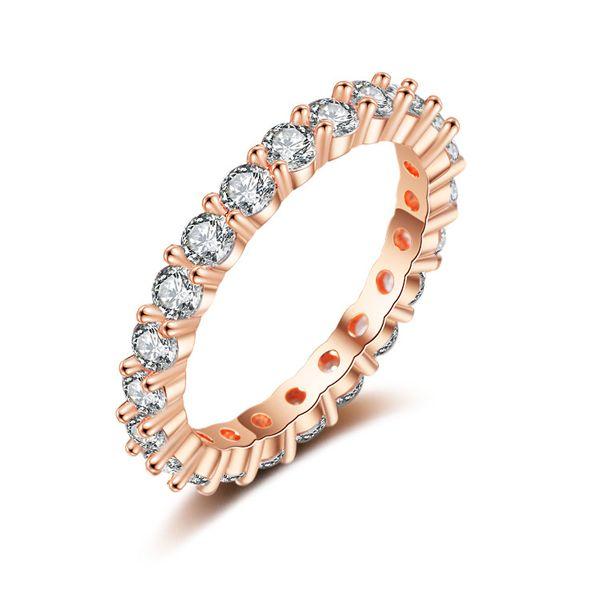 Copper Fashion Geometric Ring  (Rose Alloy-6) NHQL0073-Rose-Alloy-6