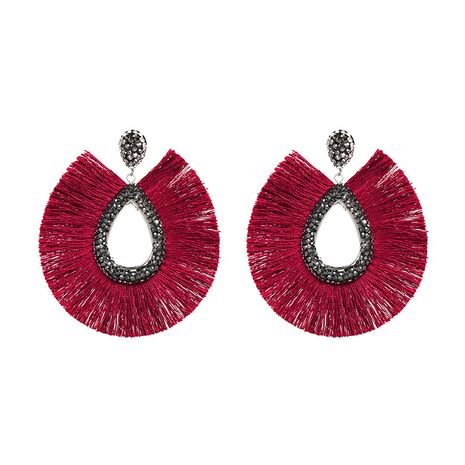 Alloy Fashion Geometric earring  (red) NHJJ5078-red's discount tags