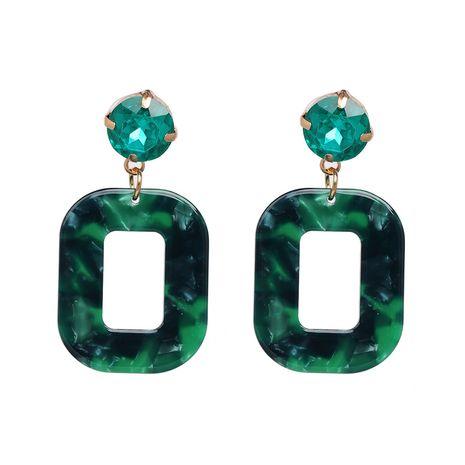 Plastic Fashion Geometric earring  (green) NHJJ5245-green's discount tags