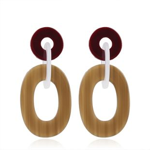 Plastic Fashion Geometric earring  (Color mixing) NHMD4790-Color-mixing's discount tags