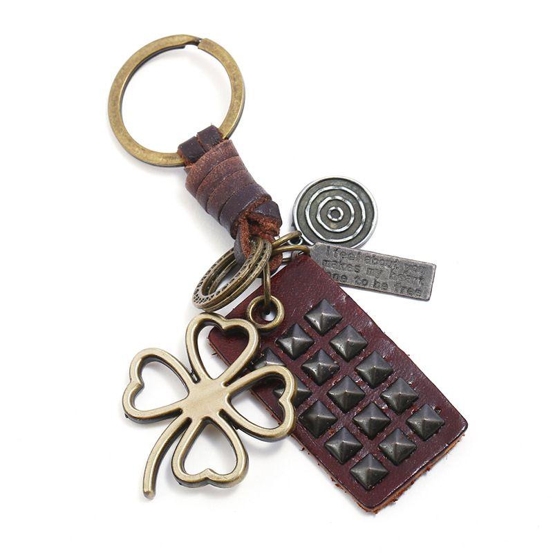 Leather Fashion  key chain  (Photo Color) NHPK2124-Photo-Color