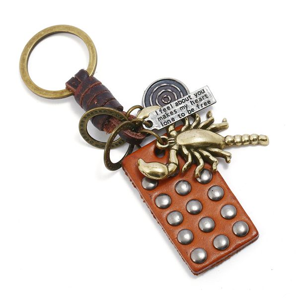 Leather Fashion  key chain  (Photo Color) NHPK2140-Photo-Color