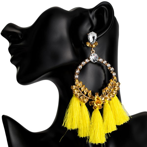 Alloy Fashion Flowers earring  (yellow) NHJE2035-yellow