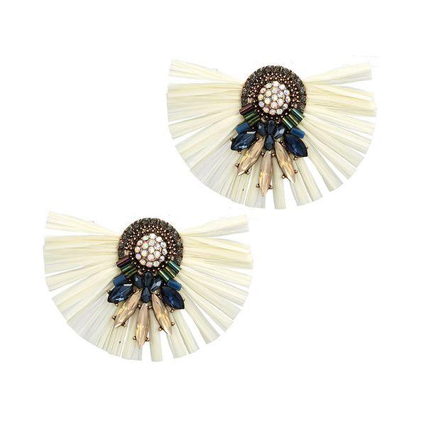 Alloy Vintage Tassel earring  (white) NHGY2607-white