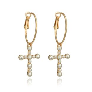Alloy Simple Cross earring  (Alloy) NHGY2605-Alloy's discount tags