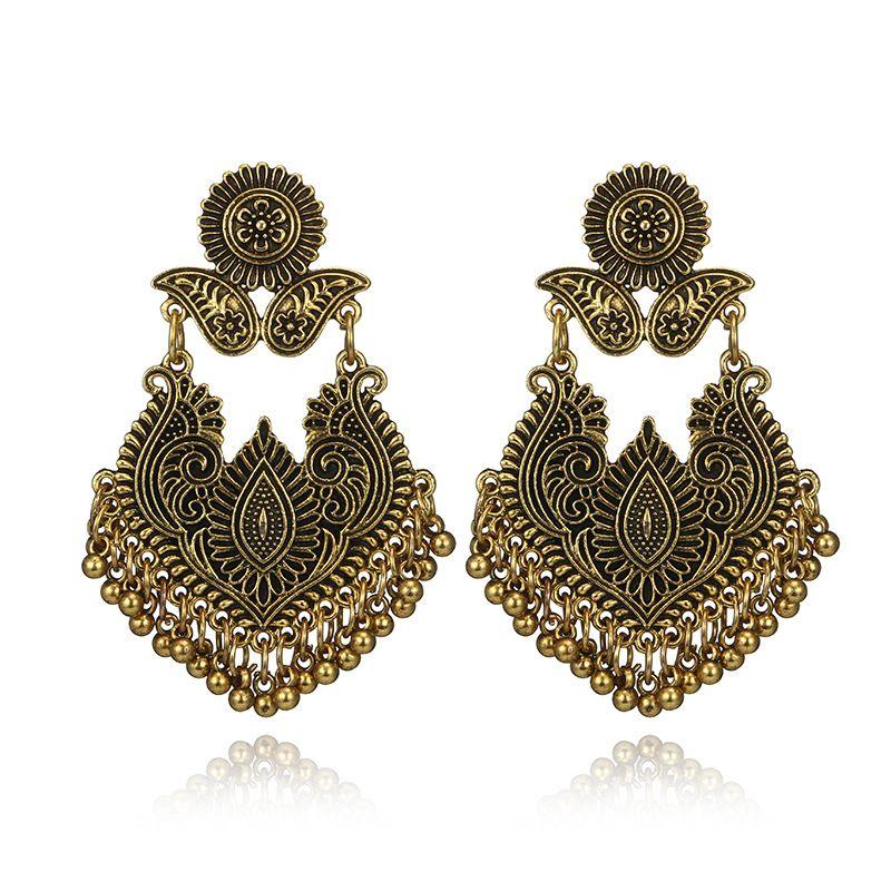 Alloy Bohemia Geometric earring  (Alloy) NHGY2627-Alloy