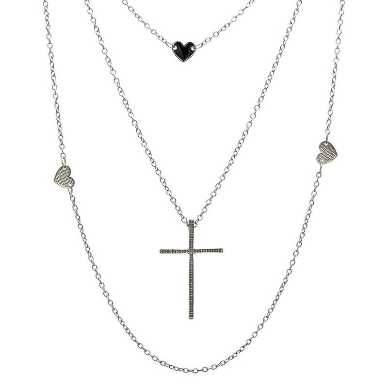 Alloy Simple Geometric necklace  Alloy NHBQ1852Alloy