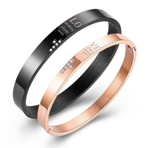 Titanium&Stainless Steel Fashion Geometric bracelet  (Black men) NHOP3061-Black-men