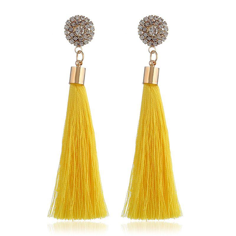 Alloy Fashion Flowers earring  yellow NHVA5268yellow
