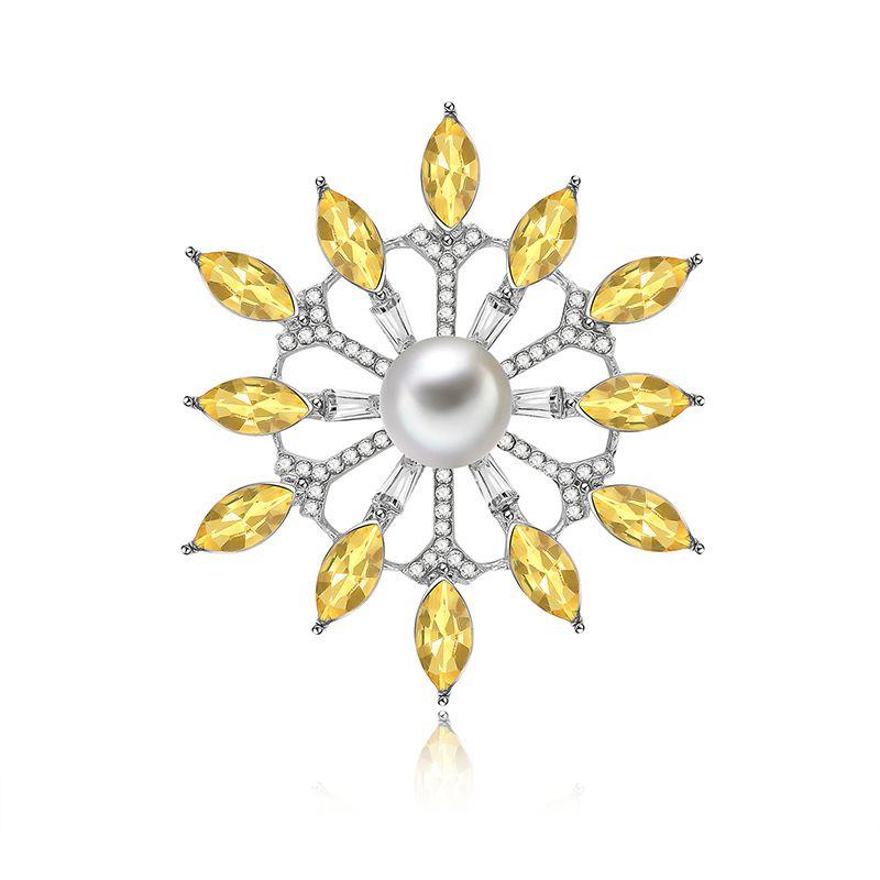 Alloy Fashion Flowers brooch  61187196 NHXS195261187196