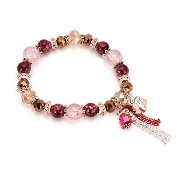 Imitated crystal&CZ Bohemia Tassel bracelet  (66186039) NHXS2019-66186039