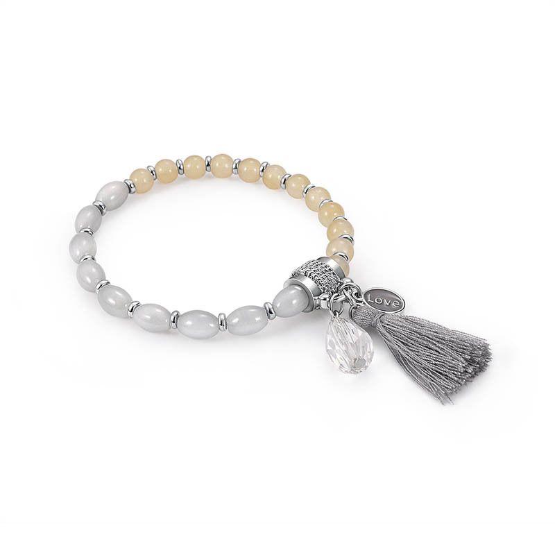 Imitated crystal&CZ Bohemia Tassel bracelet  (61176298D) NHXS2031-61176298D
