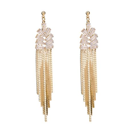 Copper Fashion Tassel earring  (Alloy) NHYT1286-Alloy's discount tags