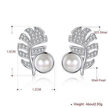 Platinum Plated  Stud Earrings NHKL13401
