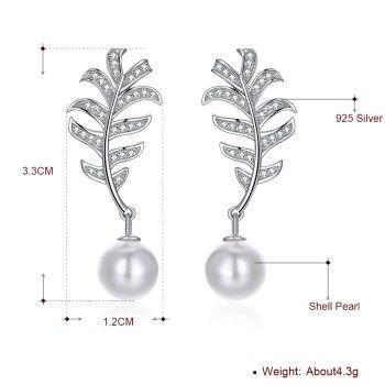 Platinum Plated  Stud Earrings NHKL13403