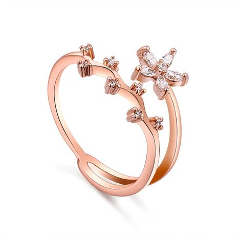 AAA Zircon Ring - Huazhi Honey (Rose Alloy) NHKSE29374-7's discount tags