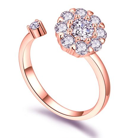Rotating net red ring - good luck annual ring (rose alloy) NHKSE29559-7's discount tags