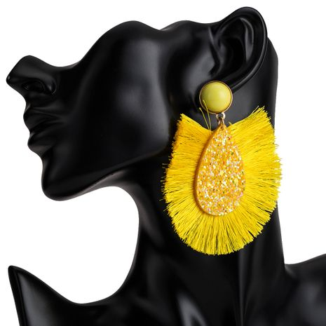 Alloy Fashion Tassel earring  (yellow) NHJE1932-yellow's discount tags