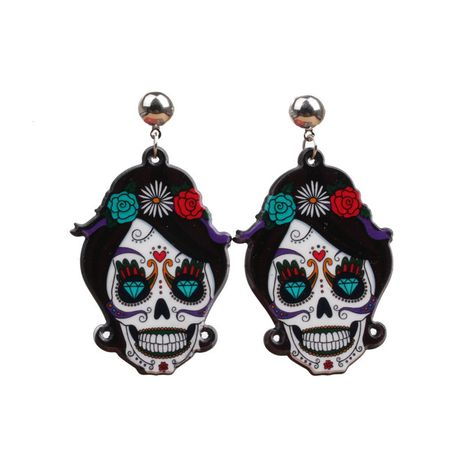 Acrylic Fashion Geometric earring  (Female ghost) NHYL0254-Female-ghost's discount tags