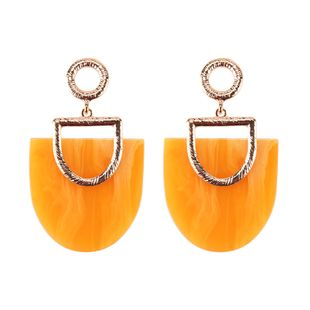 Plastic Fashion Geometric earring  (yellow) NHJQ10782-yellow's discount tags