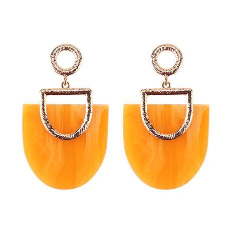 Plastic Fashion Geometric earring  (yellow) NHJQ10782-yellow's discount tags