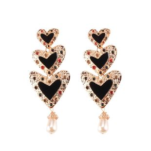 Alloy Fashion Geometric earring  (black) NHJQ10784-black's discount tags
