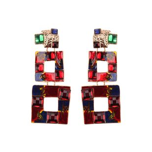 Alloy Fashion Geometric earring  (red) NHJQ10786-red's discount tags